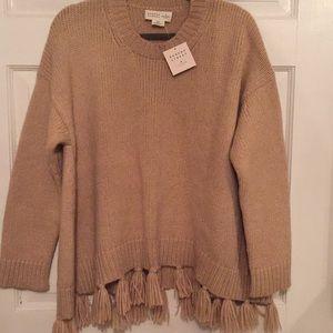 NWT Kate Spade alpaca tassel swing style sweater
